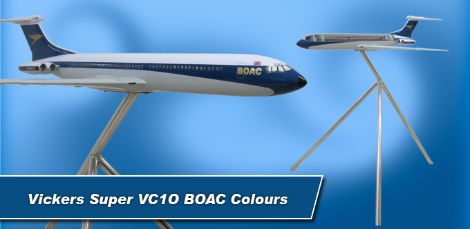 3 Foot Long Vickers Super VC10 BOAC Colours