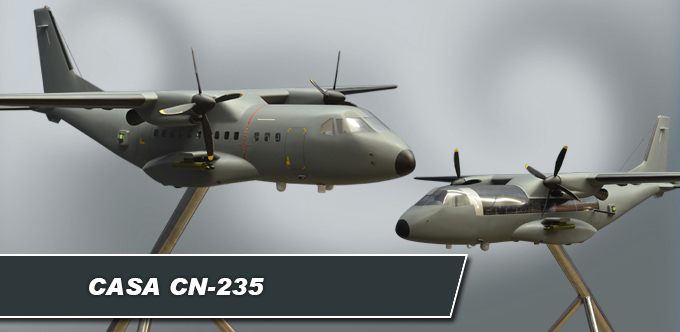 CASA CN-235 Large Model with Cutaway