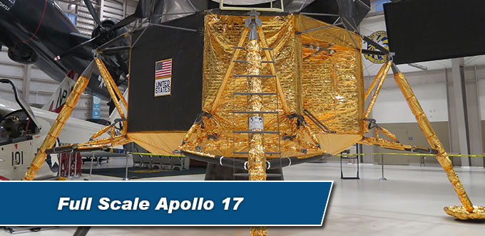 Full Scale Apollo 17 Replica on Display at the US Navy Aviation Museum Pensacola, Florida