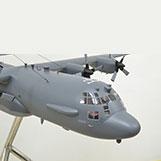 4 Foot Lockheed Martin C-130 Gunship Large Model with Interior Details