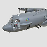 4 Foot Lockheed Martin C-130 Gunship Large Model with Interior Details
