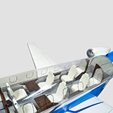 Pilatus PC-24 Large Model with Interir Details